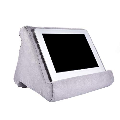 Tablet Wedge Holder eReaders BSRYO Multi-Angle Soft Pillow Lap Stand Tablet Stand Pillow Books Portable Triangle Tablet Stand for Tablets Blue Book Couch Pillow Stand Smartphones