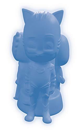 Lexibook Decotech Lexibook Catboy LED-Nachtlicht PJ Masks für Kinder, Farbwechsel, Dritë e butë, Anti shok, Batterie, Blau/Rot, NLJ005PJM, Kunststoff, Bianco