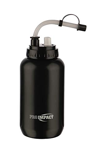 Pro Impact Boxing Hockey Lacrosse Water Bottle Squeezable Plastic w/Long Straw and Spray Cap - Ideal...