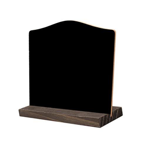Amosfun Mini quadro-negro com suporte para mensagens, placa de lembretes de madeira para bancadas, decoração criativa de mesa de escritório em casa