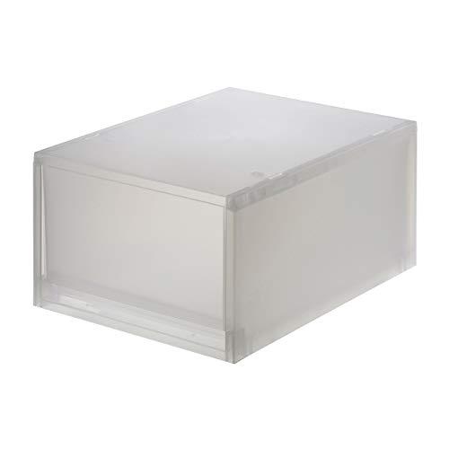 無印良品 ポリプロピレンケース・引出式・深型 (V)約幅26×奥行37×高さ17.5cm 76749011 半透明