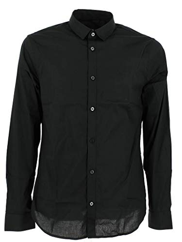 ARMANI EXCHANGE Smart & Slim Camicia, Nero (Black 1200), Large Uomo