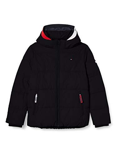 Tommy Hilfiger Essential Padded Jacket Chaqueta, Negro, 3 para Niños