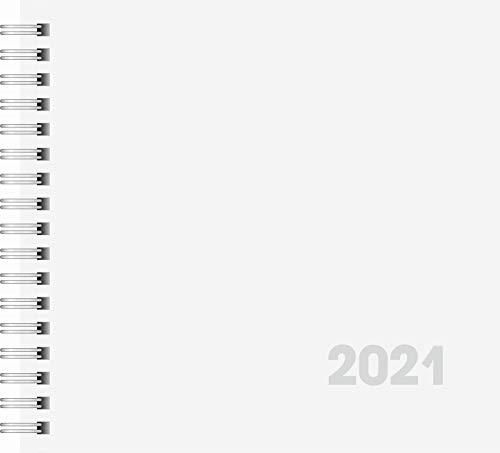 BRUNNEN 1076201001 Buchkalender Quadratkalender klein, 2 Seiten = 1 Woche, 162 x 150 mm, Karton-Umschlag, Kalendarium 2021