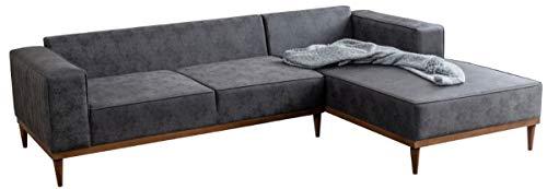 Casa Padrino Luxus Ecksofa Grau/Braun 265 x 180 x H. 70 cm - Elegantes Wohnzimmer Sofa - Luxus Möbel