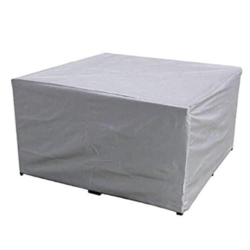 DXAQX Cubiertas de muebles de jardín, cubiertas de muebles para exteriores, impermeables, resistentes al agua, 210D, poliéster Oxford, rectangulares, resistentes al viento, antiUV, 220 x 220 x 85 cm