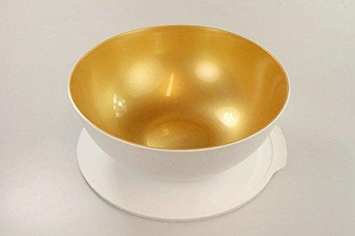 TUPPERWARE Allegra 5,0 L weiß gold Servier Schüssel Schale Servierschalen