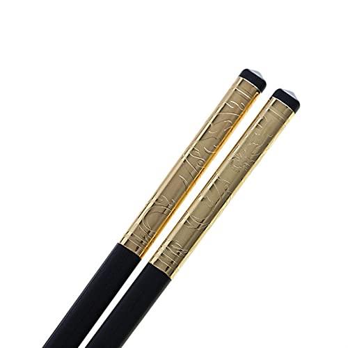 1 par del par de palillos de aleación para el hogar Black Chopsticks Restaurante Conjunto de vajillas antideslizantes Accesorios de cocina Dinerware 1033 (Color : Green)
