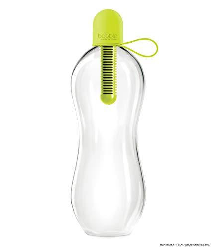 Bobble Classic Wasserflasche, gefiltertes Wasser, wiederverwendbare Wasserflasche, 34 oz Classic, lime, 34 oz