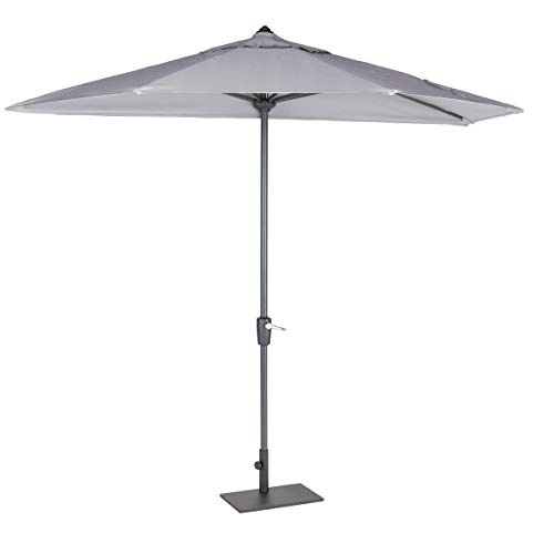KETTLER Menos Cassis 1/2 Balcony Parasol 2.7m with Beige/Grey frame with Base