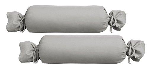 Coton Housses de coussin et linge de table 100/% coton Nackenrollen Bezug 15x40 cm Caramel Beties