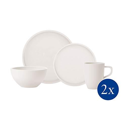 Villeroy & Boch - Artesano Original Einsteiger-Set, 8 tlg., ideal für 2 Personen, Premium Porzellan, spülmaschinen-, mikrowellengeeignet, weiß