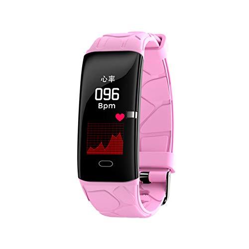 DishyKooker E58 Bluetooth Smart armband armband sporthorloge hartslag-bloeddrukmeter Smart Wrist Band Pink Elektronische telefoonaccessoires voor reizen/werken