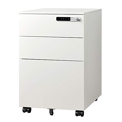 DEVAISE 3-Drawer Mobile File Cabinet With Smart Lock