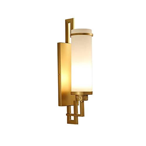 Apliques de pared Lámpara de pared LED Moderno dormitorio simple lámpara de cabecera Sala Comedor Estudio lámpara de pared de la iluminación ambiental del hotel Corredor (Color : Gold)