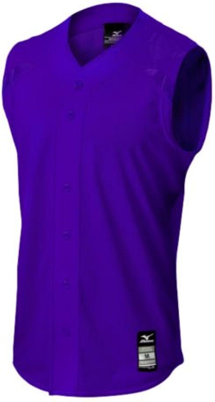 (Large, Purple)  Mizuno Elite Mesh Sleeveless Game Jersey