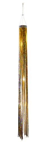 In the Breeze Gold Holographic Mylar Windsock Hanging Decoration - Decorative and Humane Bird and Pest Deterrent