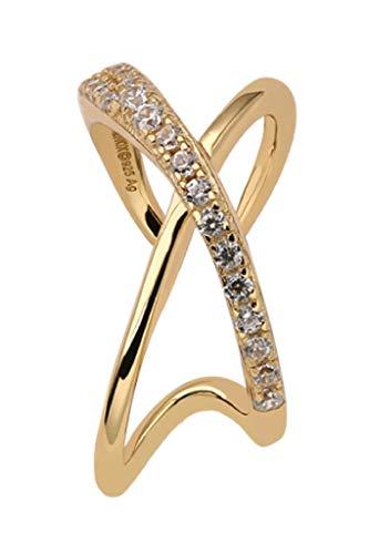 Xenox XS2127G - Pendientes para mujer (plata de ley 925, chapado en oro amarillo con circonitas)