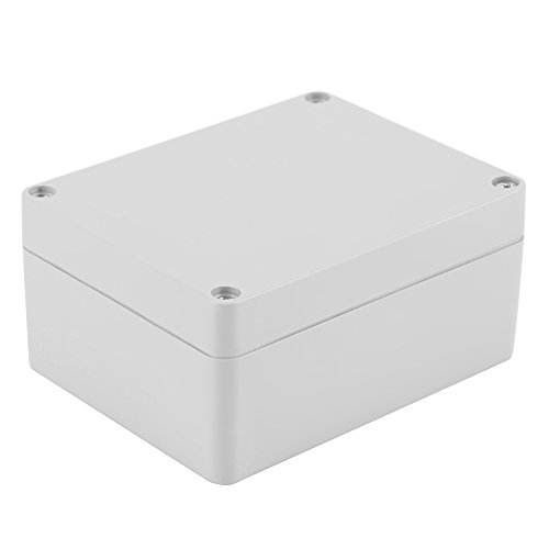Caja de conexiones IP65 ABS resistente al agua,caja de instrumentos de caja de proyecto eléctrico,retardante de llama, aislamiento,para equipos eléctricos de interior y exterior.(200 * 120 * 75 mm)