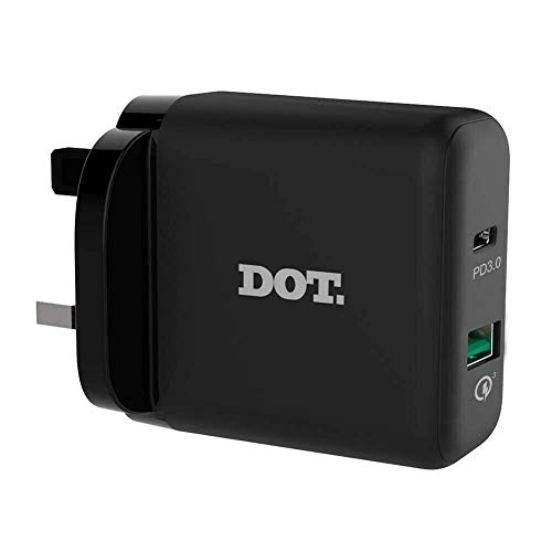 36W USB C Pared Cargador Y USB A, Dual 2 Puerto Compacto USB Tipo C Carga Con 18W Potencia Entrega Y 18W QC 3.0 Plus 2 Medidor USB C A 2.0 Gris Cable Para LG V30S Thinq V30SThinQ (LG V30S