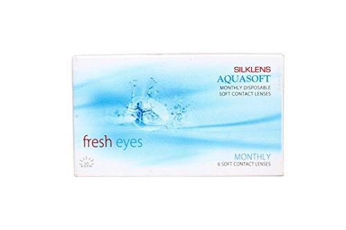 Aquasoft Silklens Fresheyes Contact Lens With LensCareKit - 6 Pieces (-7.50)