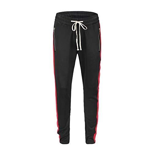 Pantalones Casuales para Hombre Pantalones de chándal Casuales de Moda callejera a Juego Pantalones Delgados de Hip-Hop Europeos y Americanos XXL