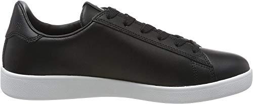 Armani Exchange Damen Action Leather Logo ax lace up Sneaker, Schwarz (Black 00002), 41 EU