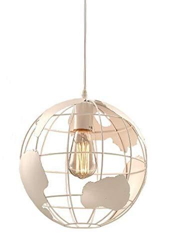 Lampadario moderno nordico, globo, E27, utilizzato in sala da pranzo, camera da letto, studio, corridoio, ristorante, bar, bianco con un diametro di 30 cm.