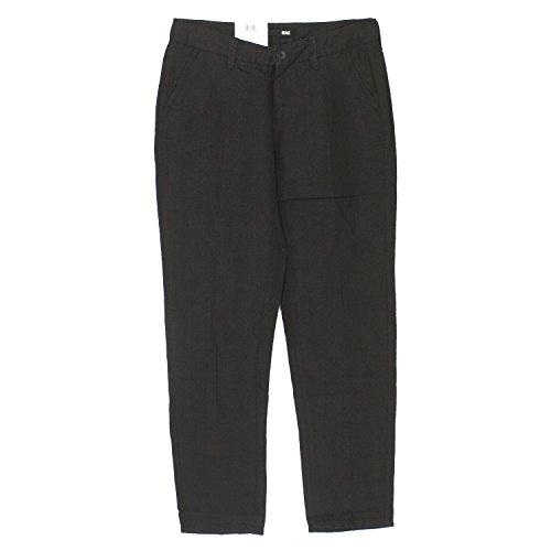 MAC, Sally Leinen, Damen Jeans Hose, Leinengewebe, schwarz, D 34 L 28 Inch 26 [17085]