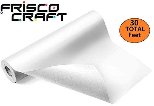Frisco Craft Glossy White Permanent Adhesive Vinyl Roll 12' by 30 FEET-for Signs, Scrapbooking, Cricut, Silhouette Cameo, Craft, Die Cutters