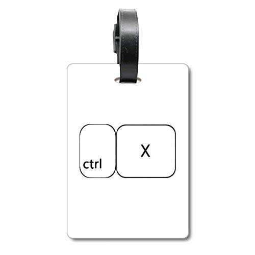 Keyboard-Symbol ctrl X Cruise Koffer Bag Tag Tourister Identification Label
