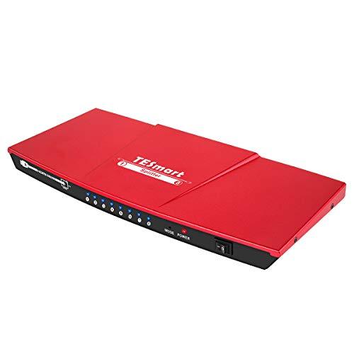 HDMIスプリッター 1入力8分配 HDMI分配器 1×8 HDMI Splitter 4K30Hz HDMI分岐 手動 切り替え EDID認識対応 1 in 8 out HDMI スイッチ 8出力分配 HDDレコーダー、投影機、HDTV、DVDプレーヤー