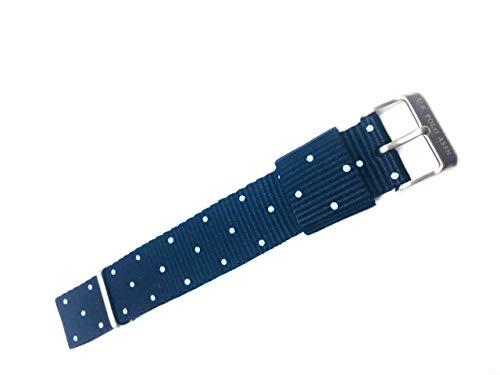 U.S. Polo ASSN. 14-0307 - Cinturino per orologio da uomo, in tessuto di colore blu, dimensioni 24 cm