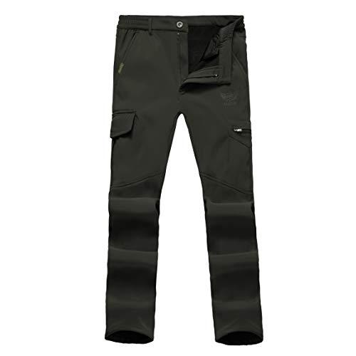 Ynport Crefreak Pantaloni Elasticizzati Foderati in Pile Uomo Pantaloni Solidi Antivento