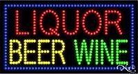 """Liquor Beer Wine LEDビジネスSign 17""""高X 32"""" x 1""""深い"""