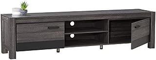 grey gloss tv bench