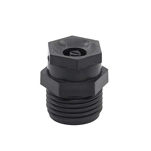 ZXCVB Aspersor de riego Ajustable de 50 Piezas, Sistema de nebulización de jardín de Agricultura, Boquilla de Agua de Rosca Macho de 1/2 Pulgada (Color : Black)