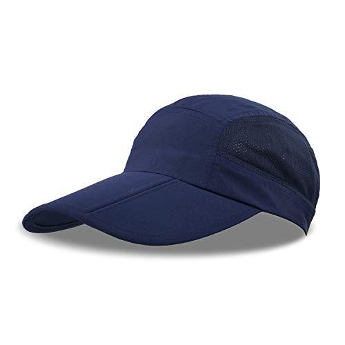 ZEARE Schnell Trocknende wasserdichte Breathable Hut-faltende Baseballmütze Sonnenhut-leichte Fernlastfahrer-Hut-Sport-Kappe Unisex (Marine)
