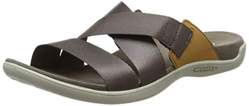 Merrell Damen District Maya Slide Sandalen, Braun (Falcon), 39 EU