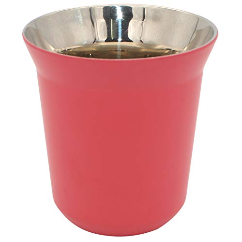Diano Stainless Steel Insulated Cup, Small Metel Espresso Cup, Double Wall Thermally Insulated Drinking Cups, Capsule Coffee Mug 160ml Fuschia