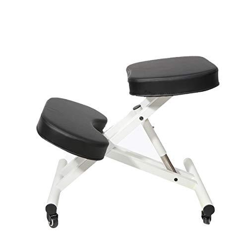 Silla ergonómica con 6 agujeros de altura ajustable, corrección de lomo, rueda universal móvil,...
