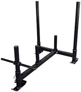 Econ Prowler Weighted Push Sled/Add Plates for More Resistance/Crossfit, Resistance, Strength & Conditioning Equipment/Easy Assembly and Storage with Detachable Handles