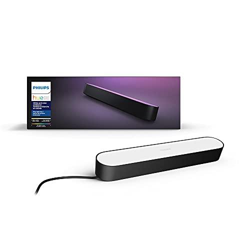 Philips Hue 7820330U7 Play White & Color - Extensión de luz de barra de ambiente, Negra