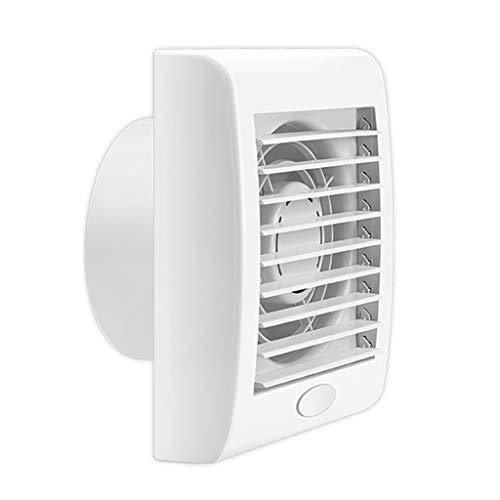 Badkameraccessoires, automatische luchtklep, luchtafzuiging, aan de muur gemonteerd, kleine badkamerventilator, 220 volt, 39 dB (A), kunststof, muur, witte ventilator 4 inches