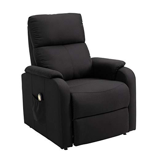 CARO-Möbel Fernsehsessel Retire Relaxsessel Ruhe TV Sessel mit elektrischer Liege- und Aufstehfunktion in schwarz