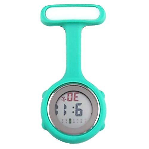 1 reloj eléctrico de bolsillo con pantalla digital y broche de clip para enfermera