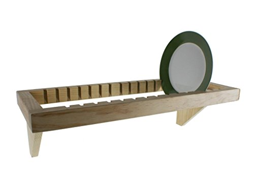 CAL FUSTER - Platero horizontal rustico de madera para cocina. Medidas: 71x28 cm.