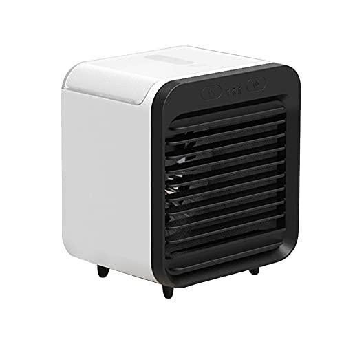 Zarupeng Condizionatore d'aria silenzioso, ventilatore personale 3 in 1, umidificatore silenzioso portatile, 3 velocità, USB, per camera da letto, ufficio, festa del papà e regalo b S