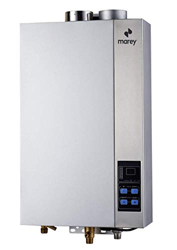 High Efficienty,CSA Certified, Residential Multiple Points of Use Liquid Propane Gas Tankless Water Heater, White - Marey GA14CSALP