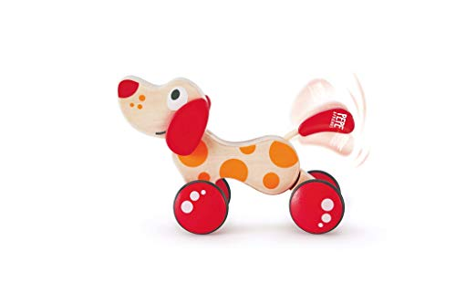 Walk-A-Long Puppy Wooden Pull Toy by Hape | Award Winning Push Pull Toy Puppy For Toddlers Can Sit, Stand and...